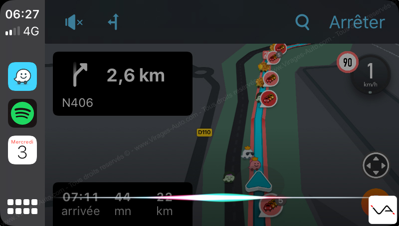 Test Apple CarPlay iOS13 Virages Auto
